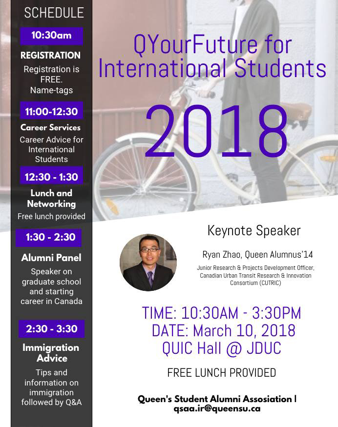 ... Cultural Differences That May Cause Challenges In Career Development,  And The Relevant Immigration Process. Alumni Panel, Networking Lunch  (free); Guest ...